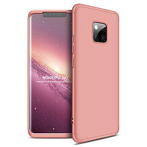 Θήκη Huawei Mate 20 Pro GKK Full body Protection 360° από σκληρό πλαστικό ροζ χρυσό
