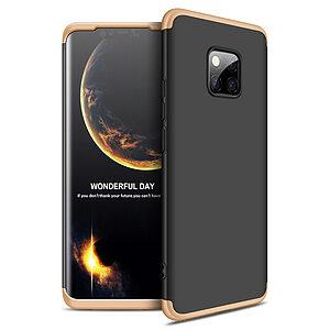 Θήκη Huawei Mate 20 Pro GKK Full body Protection 360° από σκληρό πλαστικό μαύρο / χρυσό