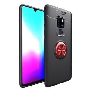 Θήκη Huawei Mate 20 OEM Magnetic Ring Kickstand Πλάτη TPU μαύρο / κόκκινο