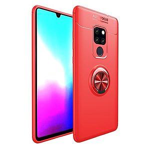 Θήκη Huawei Mate 20 OEM Magnetic Ring Kickstand Πλάτη TPU κόκκινο