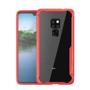 Θήκη Huawei Mate 20 IPAKY Drop Proof + TPU Combo Πλάτη TPU κόκκινο