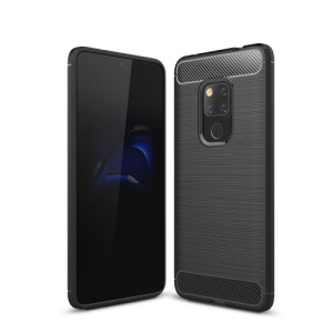 Θήκη Huawei Mate 20 OEM Brushed TPU Carbon Πλάτη μαύρο
