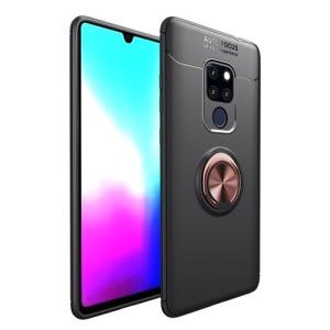 Θήκη Huawei Mate 20 OEM Magnetic Ring Kickstand Πλάτη TPU μαύρο / ροζ