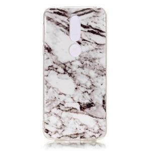 Θήκη Nokia 7.1 OEM σχέδιο Marble Grey / White Πλάτη TPU