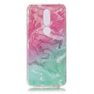Θήκη Nokia 7.1 OEM σχέδιο Marble Pink / Green Πλάτη TPU