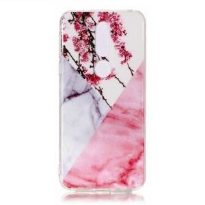 Θήκη Nokia 7.1 OEM σχέδιο Marble White / Pink Πλάτη TPU