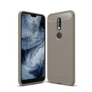 Θήκη Nokia 7.1 OEM Brushed TPU Carbon Πλάτη γκρι