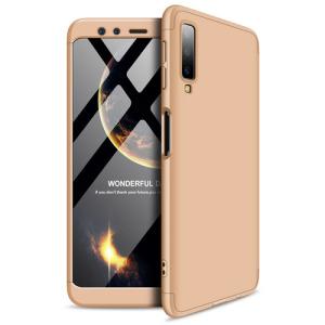 Θήκη Samsung Galaxy A7 (2018) GKK Full body Protection 360° από σκληρό πλαστικό χρυσό