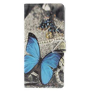 Θήκη Samsung Galaxy A9 (2018) OEM σχέδιο Blue Butterfly με βάση στήριξης