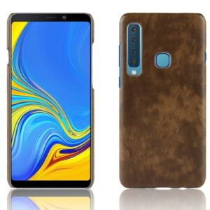 Θήκη Samsung Galaxy A9 (2018) OEM Litchi Skin Leather Plastic Series Πλάτη δερματίνη καφέ