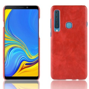 Θήκη Samsung Galaxy A9 (2018) OEM Litchi Skin Leather Plastic Series Πλάτη δερματίνη κόκκινο