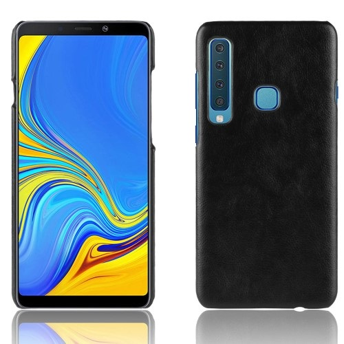 Θήκη Samsung Galaxy A9 (2018) OEM Litchi Skin Leather Plastic Series Πλάτη δερματίνη μαύρο