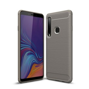 Θήκη Samsung Galaxy A9 (2018) OEM Brushed TPU Carbon Πλάτη γκρι