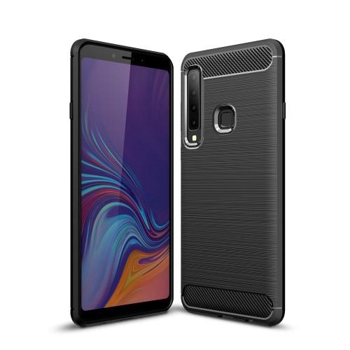Θήκη Samsung Galaxy A9 (2018) OEM Brushed TPU Carbon Πλάτη μαύρο