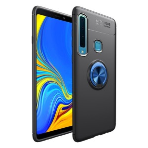 Θήκη Samsung Galaxy A9 (2018) OEM Magnetic Ring Kickstand Πλάτη TPU μαύρο / μπλε