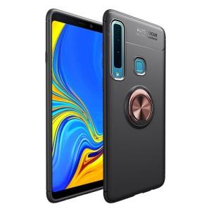 Θήκη Samsung Galaxy A9 (2018) OEM Magnetic Ring Kickstand Πλάτη TPU μαύρο / ροζ