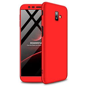 Θήκη Samsung Galaxy J6 Plus GKK Full body Protection 360° από σκληρό πλαστικό κόκκινο