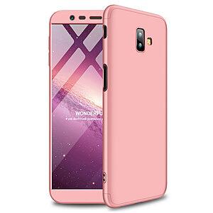 Θήκη Samsung Galaxy J6 Plus GKK Full body Protection 360° από σκληρό πλαστικό ροζ χρυσό