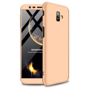 Θήκη Samsung Galaxy J6 Plus GKK Full body Protection 360° από σκληρό πλαστικό χρυσό