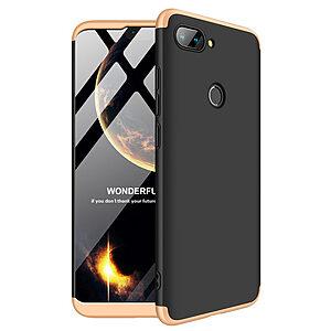 Θήκη Xiaomi Mi 8 Lite GKK Full body Protection 360° από σκληρό πλαστικό μαύρο / χρυσό
