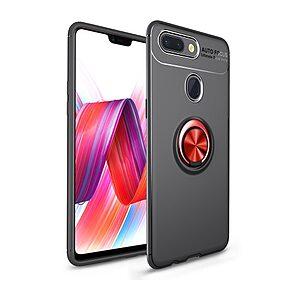 Θήκη Xiaomi Mi 8 Lite OEM Magnetic Ring Kickstand Πλάτη TPU μαύρο / κόκκινο