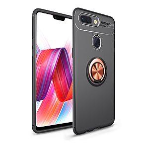 Θήκη Xiaomi Mi 8 Lite OEM Magnetic Ring Kickstand Πλάτη TPU μαύρο / ροζ
