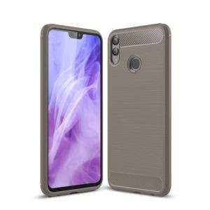 Θήκη Huawei Honor 8X OEM Brushed TPU Carbon Πλάτη γκρι