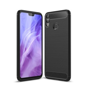 Θήκη Huawei Honor 8X OEM Brushed TPU Carbon Πλάτη μαύρο