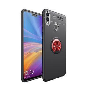 Θήκη Huawei Honor 8X OEM Magnetic Ring Kickstand Πλάτη TPU μαύρο / κόκκινο
