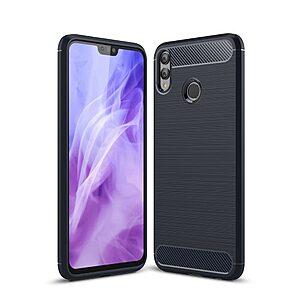 Θήκη Huawei Honor 8X OEM Brushed TPU Carbon Πλάτη μπλε