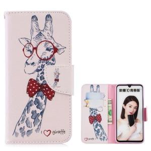Θήκη Huawei P Smart (2019) OEM σχέδιο Giraffe Wearing Glasses με βάση στήριξης