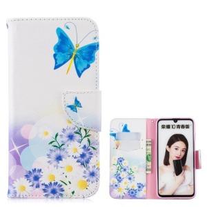 Θήκη Huawei P Smart (2019) OEM σχέδιο Blue Butterflies με βάση στήριξης