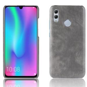 Θήκη Huawei P Smart (2019) OEM Litchi Skin Leather Plastic Series Πλάτη από σκληρό πλαστικό γκρι