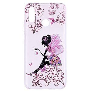 Θήκη Huawei P Smart (2019) OEM σχέδιο Butterfly Girl Πλάτη TPU