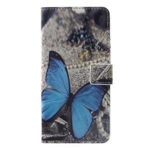 Θήκη Huawei P Smart Plus OEM σχέδιο Blue Butterfly με βάση στήριξης