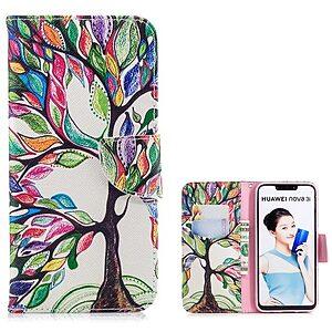 Θήκη Huawei P Smart Plus OEM σχέδιο Colorized Tree με βάση στήριξης