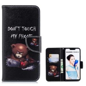 Θήκη Huawei P Smart Plus OEM σχέδιο Angry bear with chainsaw με βάση στήριξης
