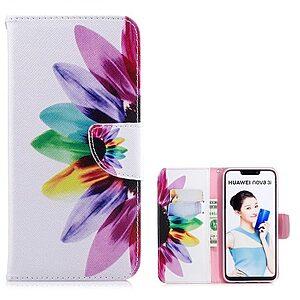 Θήκη Huawei P Smart Plus OEM σχέδιο Colorful Petals με βάση στήριξης
