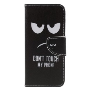 Θήκη Huawei Y6 (2018) OEM σχέδιο Do Not Touch My Phone με βάση στήριξης