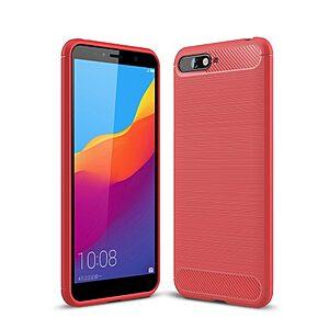 Θήκη Huawei Y6 (2018) OEM Brushed TPU Carbon Πλάτη κόκκινο