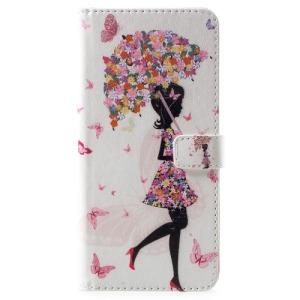 Θήκη Nokia 6.1 Plus OEM σχέδιο Flowered Girl Holding Umbrella με βάση στήριξης