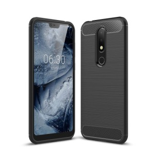 Θήκη Nokia 6.1 Plus OEM Brushed TPU Carbon Πλάτη μαύρο