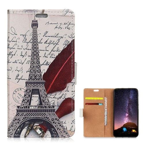 Θήκη Nokia 8.1 OEM σχέδιο Eiffel Tower Quill-pen με βάση στήριξης