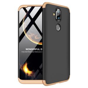 Θήκη Nokia 8.1 GKK Full body Protection 360° από σκληρό πλαστικό μαύρο / χρυσό