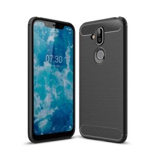 Θήκη Nokia 8.1 OEM Carbon Fiber Texture Πλάτη TPU μαύρο