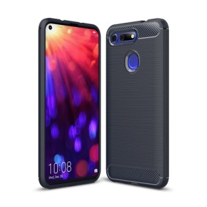 Θήκη Honor View 20 OEM Brushed TPU Carbon Πλάτη μπλε