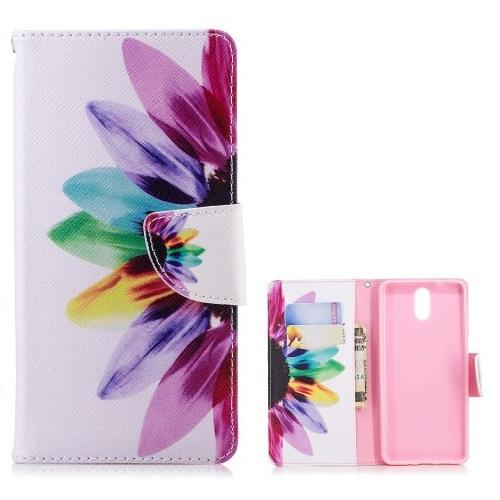 Θήκη Nokia 3.1 OEM σχέδιο Colorful Petals με βάση στήριξης