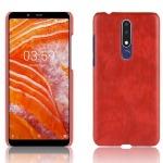 Θήκη Nokia 3.1 Plus LITCHI Litchi Skin Leather Plastic Series Πλάτη δερματίνη κόκκινο