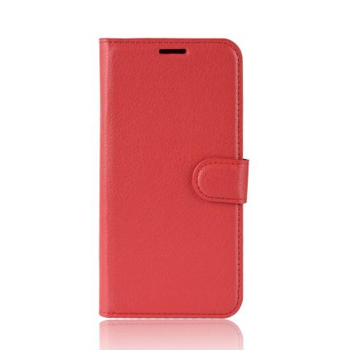 υποδοχές καρτών και μαγνητικό κούμπωμα Flip Wallet δερματίνη κόκκινο