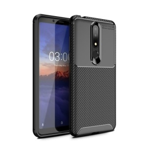 Θήκη Nokia 3.1 Plus OEM Airbag Carbon Series Πλάτη TPU μαύρο